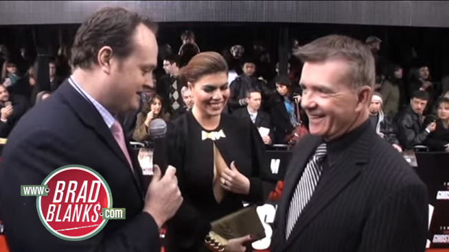 ►Brad Blanks Chats Up Alan Thicke & His Mrs. at Mission Impossible Premiere