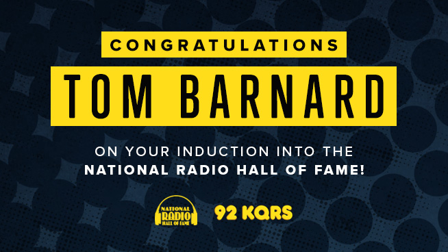 Tom Barnard Inducted into National Radio Hall of Fame