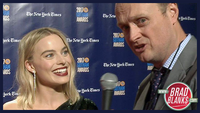 Brad Blanks on the Red Carpet with Margot Robbie
