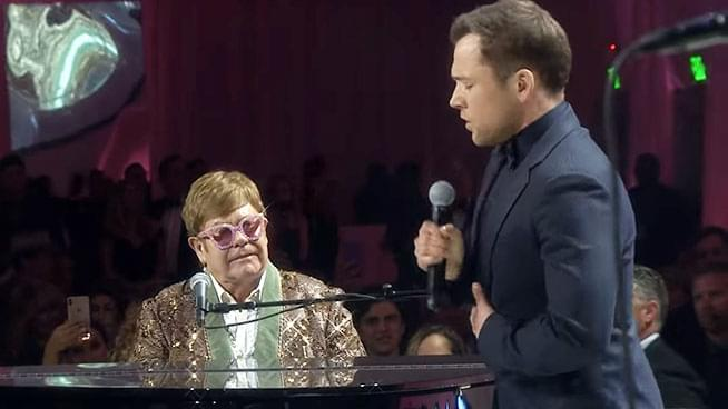 "Elton John & Taron Egerton Perform ""Tiny Dancer"""