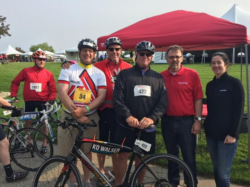 KQ's Tom Barnard and Walser Automotive Group at Tour de Cure Benefiting the American Diabetes Association