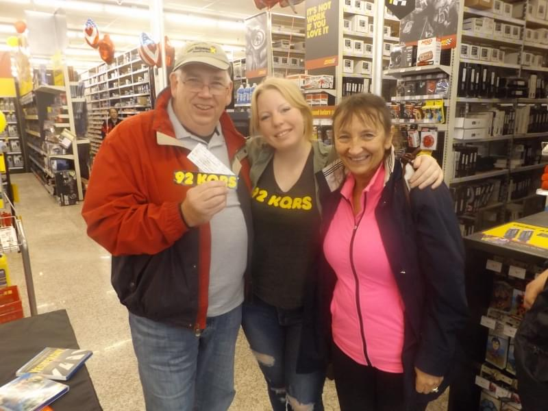 Candice at Advance Auto Parts in St. Louis Park for their Grand Opening!