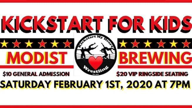 FEB 1 • Kickstart My Heart Wresting: KICKSTART FOR KIDS!