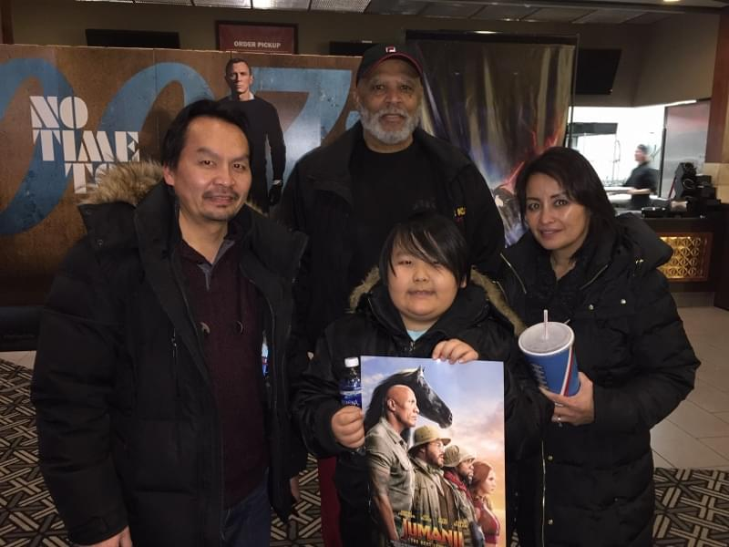 KQRS and Philip Wise at a screening of JUMANJI: The Next Level
