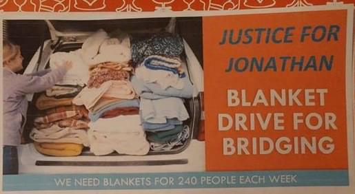 Justice for Jonathan – Blanket Drive for Bridging