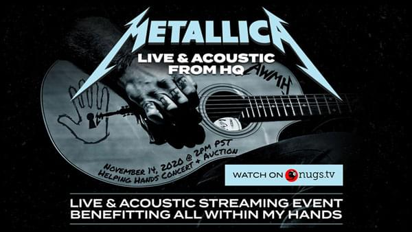 NOV 14 • Metallica: Live & Acoustic from HQ
