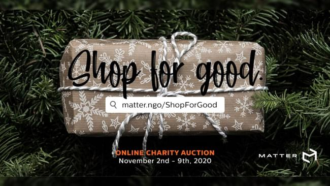MATTER Charity Auction – Shop For Good