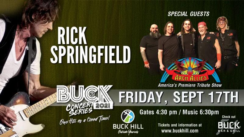 SEP 17 • Buck Hill Concert Series: Rick Springfield
