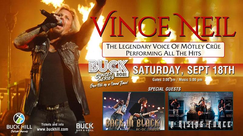 SEP 18 • Buck Hill Concert Series: Vince Neil
