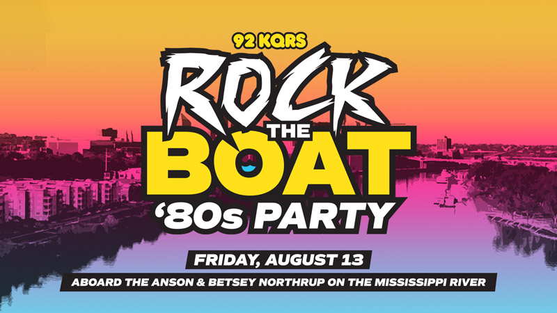 Get Your Tickets for KQ's Rock The Boat '80s Party