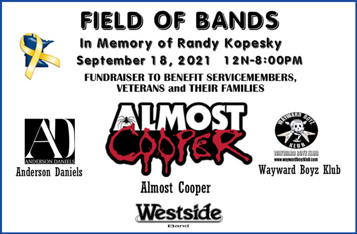 SEP 18 • Field of Bands Fundrasier starring Almost Cooper