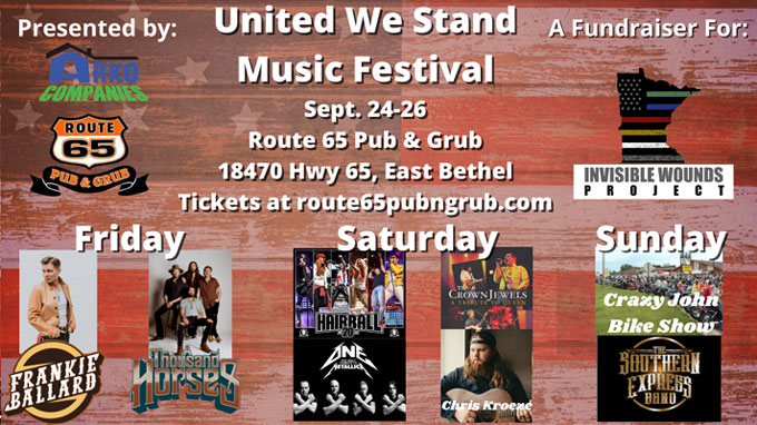 SEP 25 • United We Stand Music Festival – Tribute Rock Show