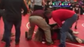 Youth Wrestling Tournament Turns Into Parent Wrestling Tournament