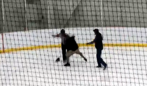 Hockey Ref Attacked By Coaches