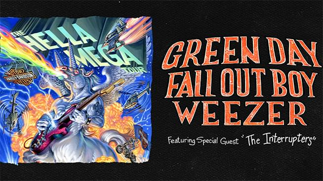 AUG 23 • Hella Mega Tour with Green Day, Fall Out Boy & Weezer