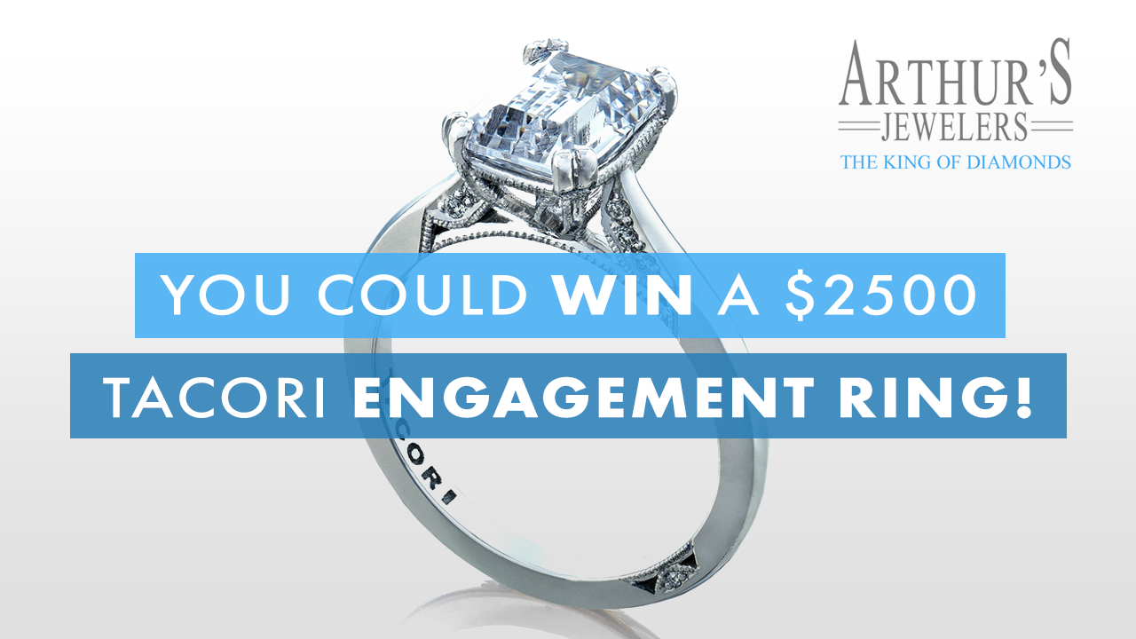 Win a $2500 Tacori Engagement Ring from Arthur's Jewelers!