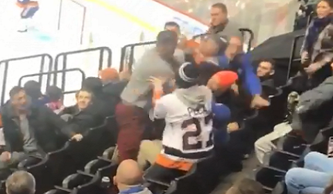 Fight In The Stands At Islanders Game