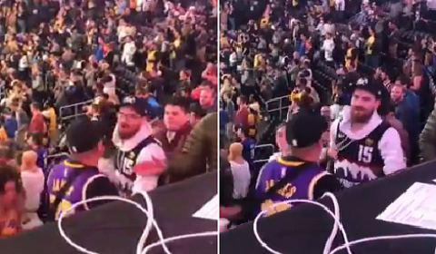 Nuggest Fan Gets Glasses Punched Off