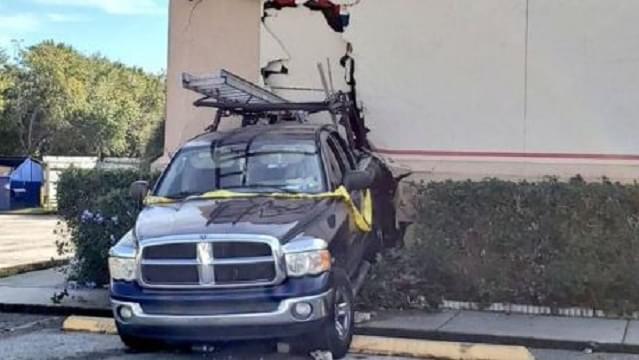 Truck Drives Into Chuck E Cheese's