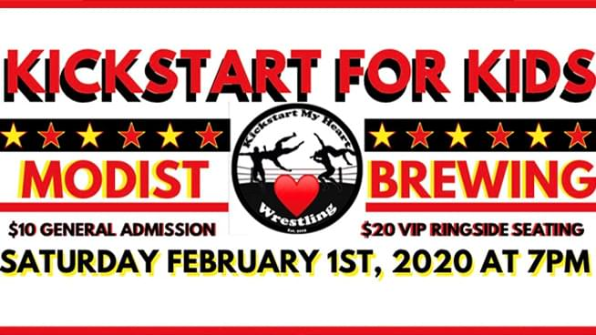 FEB 1 • Kickstart My Heart Wresting: KICKSTART FOR KIDS!