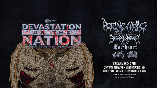 FEB 19 • Devastation on the Nation feat. Rotting Christ
