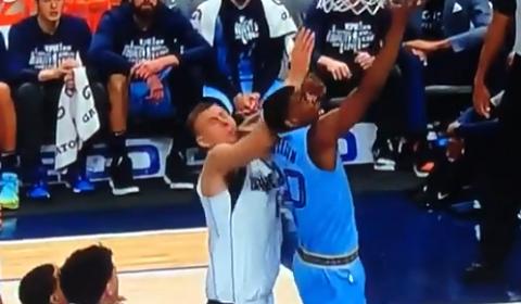 Dallas Mavericks Kristaps Porzingis Takes Elbow To The Nose