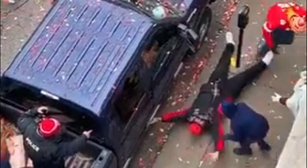 Chiefs Fan Blasted by Parking Meter