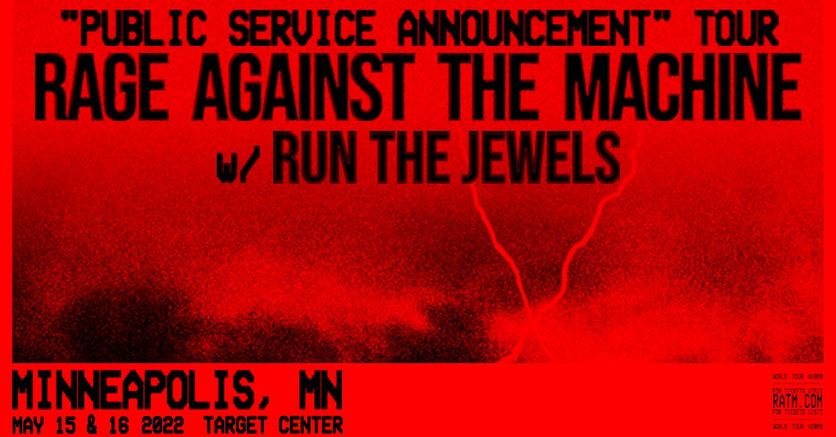 MAY 15 • Rage Against the Machine