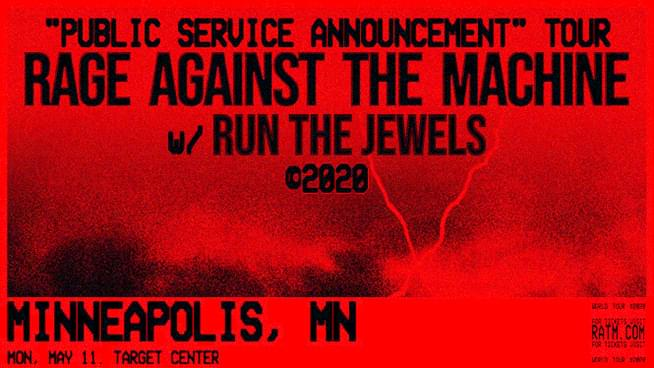 MAY 11 • Rage Against the Machine