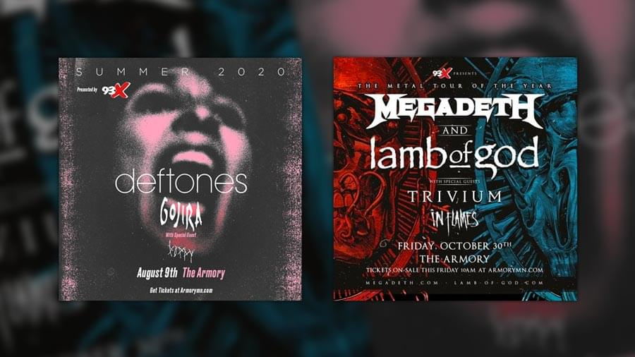 Presale Info for Deftones, Megadeth + Lamb of God
