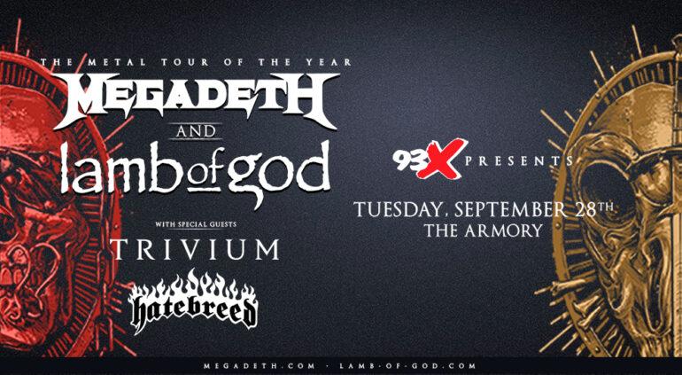 SEP 28 • Megadeth + Lamb of God