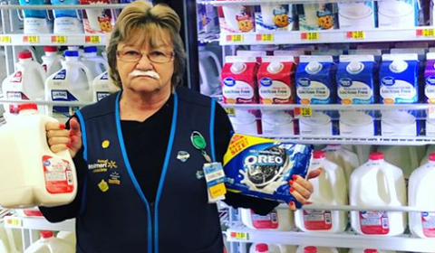 Walmart Employee Going Viral For Hilarious Promotional Photos
