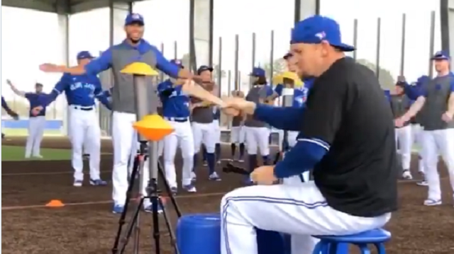 Toronto Blue Jays Player Air Drums to Rush