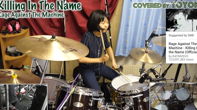 10-Year-Old Drummer Covers Rock Bands!
