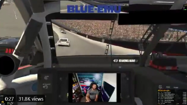 Bubba Wallace Rage Quit During Sunday's iRacing Event