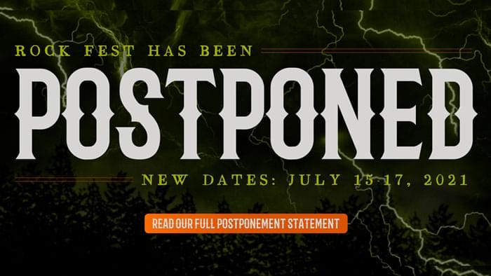 Rock Fest 2020 Postponed Until 2021