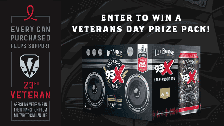 Enter to Win a Veterans Day Prize Pack from Lift Bridge Brewing
