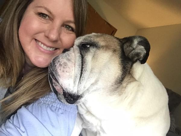 Listener Jenny and her pup Tyson