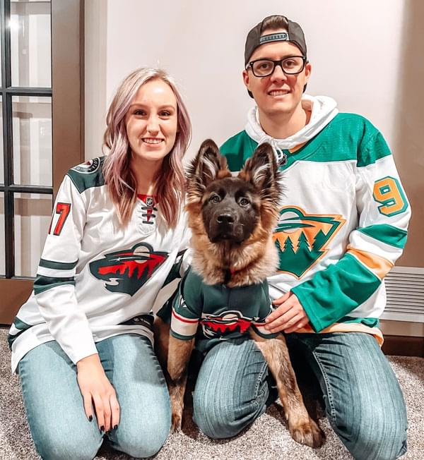 Weston, Claire and their puppy Nelly