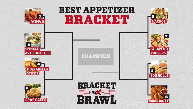 93X Bracket Brawl: Best Appetizer Bracket