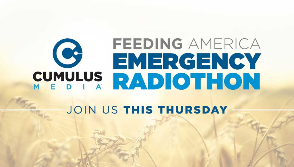 All funds driven by the radiothon will go to Feeding America's COVID-19 Response Fund, which supports the 200 food banks across the country and in your community. For more information and to donate, go to www.radiocares.org.