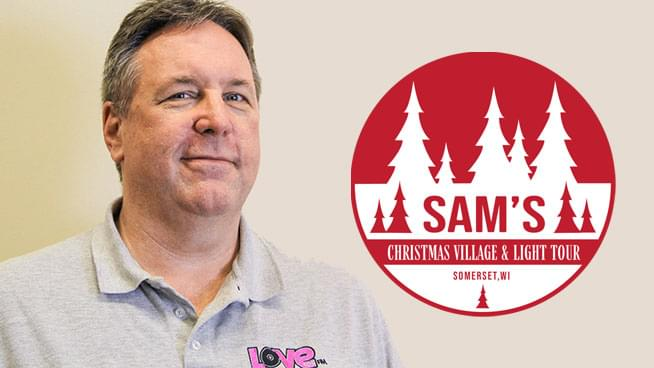 Love 105's Jay Philpott at Sam's Christmas Village & Light Tour
