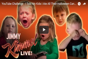 Jimmy Kimmel Distracts World From Election With Bonus Halloween Candy Prank Segment