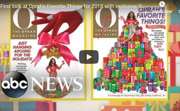 Check Out Oprah's Favorite Things for 2018!