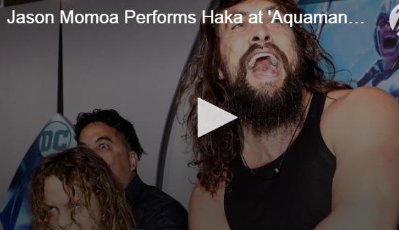 WATCH: Jason Momoa Do A Haka Dance on the Blue Carpet!
