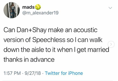 "A Fan Asked Dan + Shay for an Acoustic ""Speechless"" and They Came Through!"