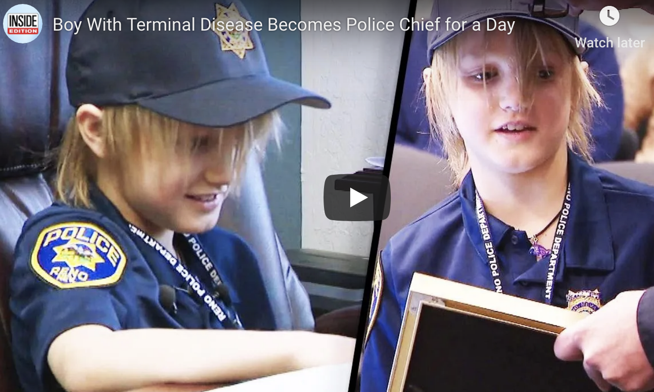 WATCH: A Boy with a Terminal Disease Became a Police Chief for a Day!