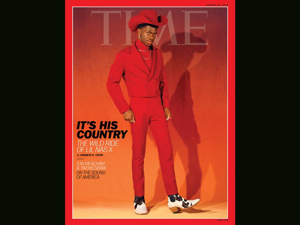 "Lil Nas X on ""Time"" Cover, While Tim McGraw & Jon Meacham Pen Article on Country Music's Role in Politics & Diversity"