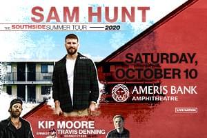 NEW DATE: October 10 – Sam Hunt