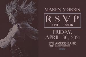 NEW DATE: Apr 30 – Maren Morris